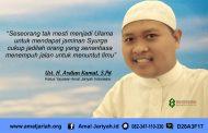 Delapan Pelajaran dari Hatim Al A'sham (Bagian 1)