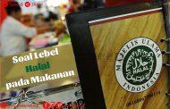 Soal Lebel Halal pada Makanan
