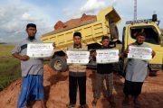 Pasca Tabligh Akbar, Puluhan Truk Tanah Timbunan Bantu Pembangunan Pesantren