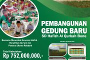 Progres Pembangunan SD Hafizh Al Qurbah