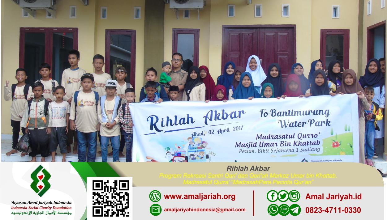 Markaz Umar Bawa 100 Santri Rihlah Akbar
